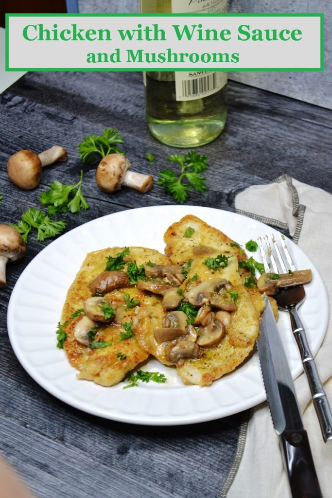 Chicken with Wine Sauce and Mushrooms
